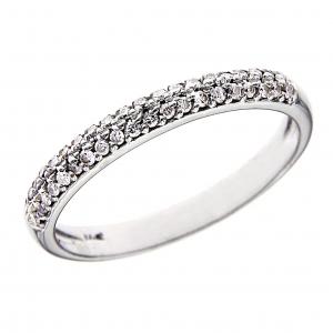 Anello Stilizzato con 40 Diamanti CT 0.21