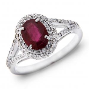 Anello con Rubino e Diamanti Linea Irma