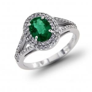 Anello con Smeraldo e Diamanti Linea Irma