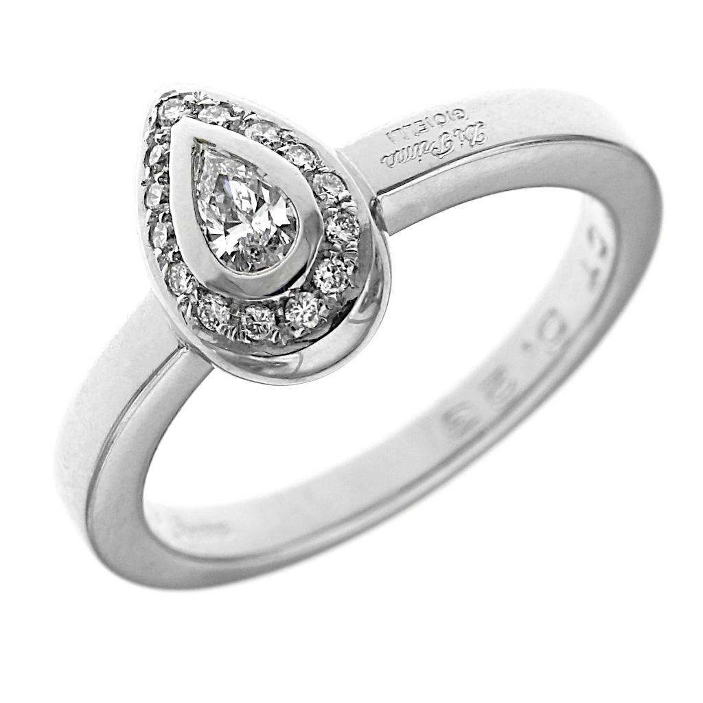 Anello solitario con diamante goccia ct con laterali ct italiana gioielli - Gemelli diversi alla goccia testo ...