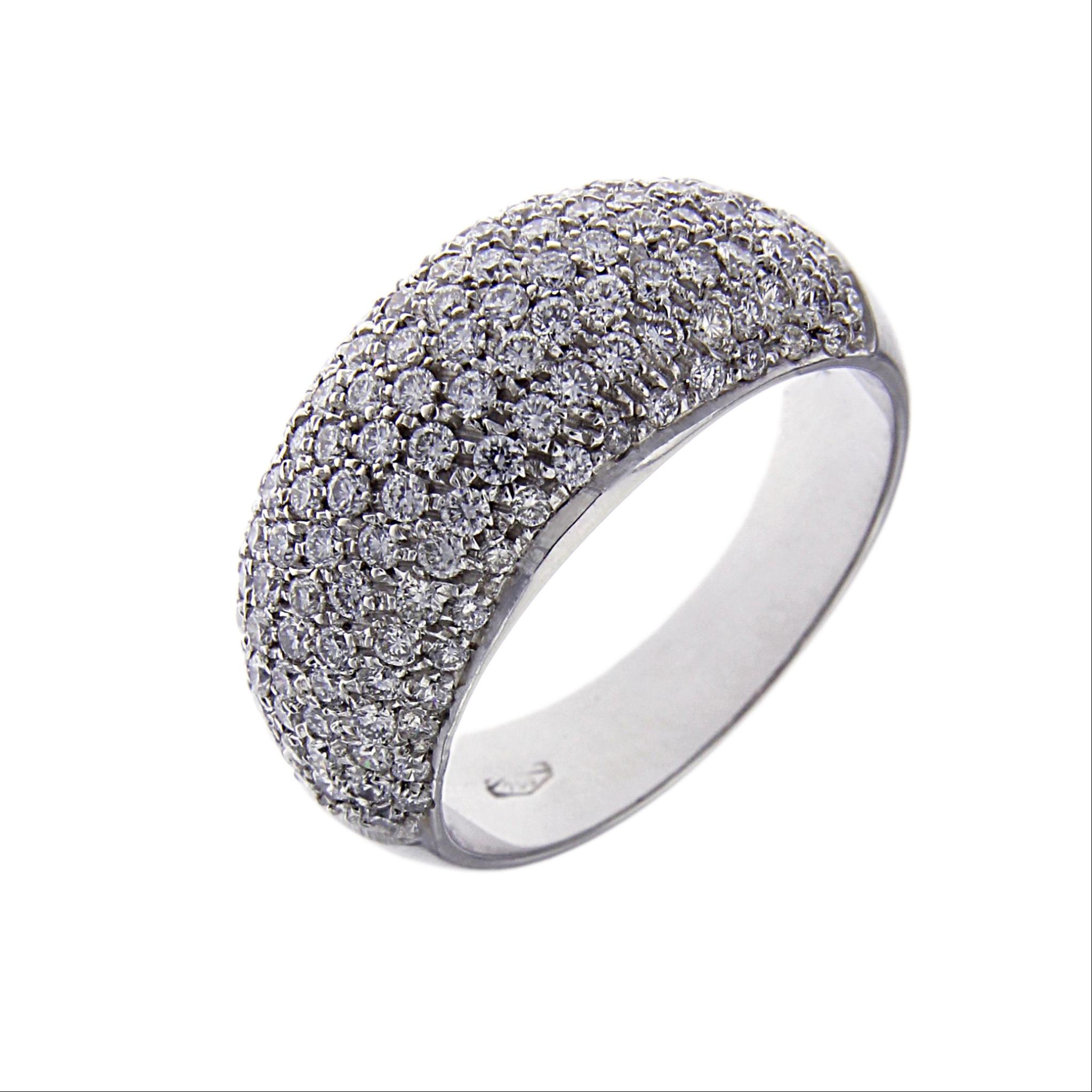 Famoso Anello Fascia con 125 Diamanti CT 1.26 | ITALIANA Gioielli  PK63