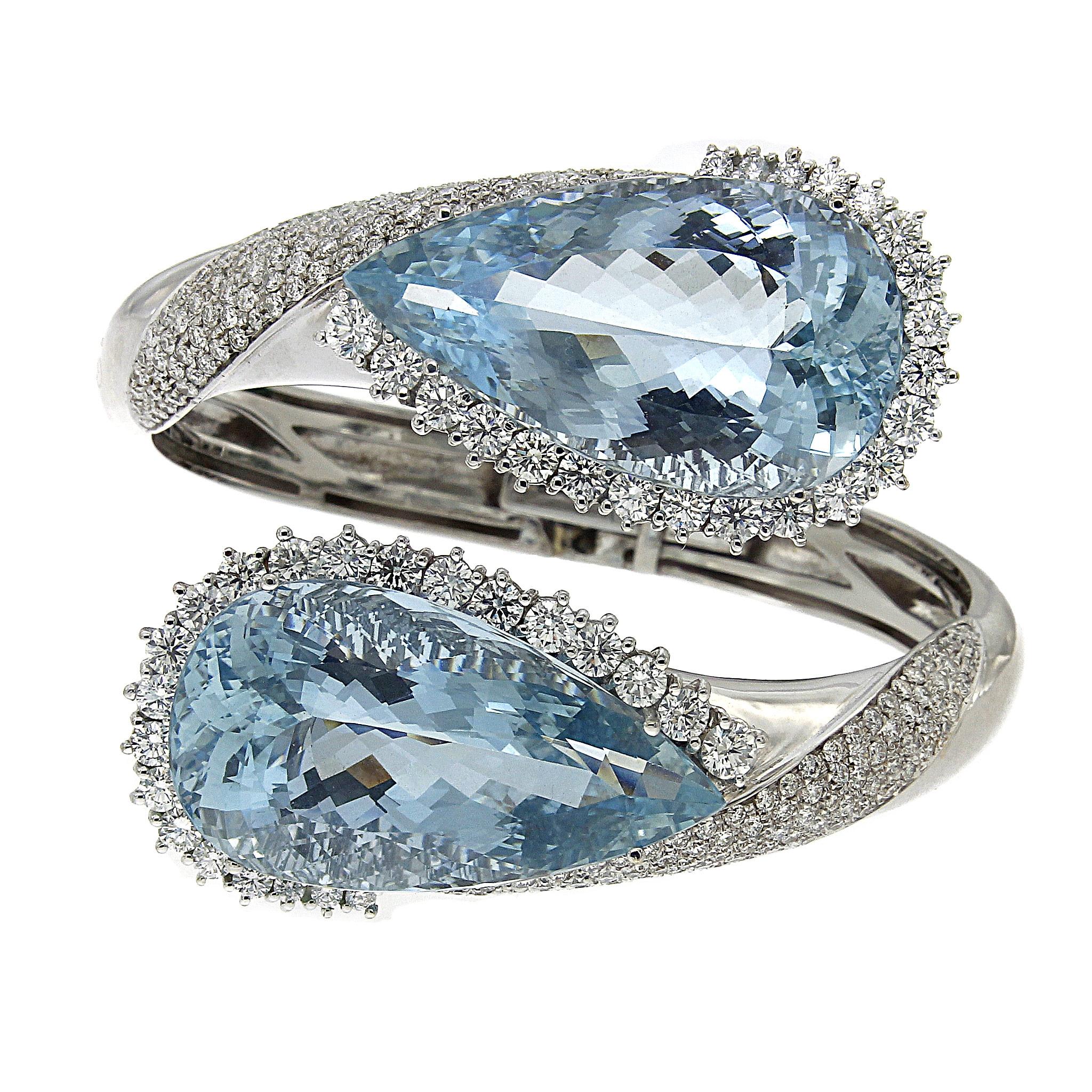 Bracciale con Acquamarina e Diamanti CT 6.32