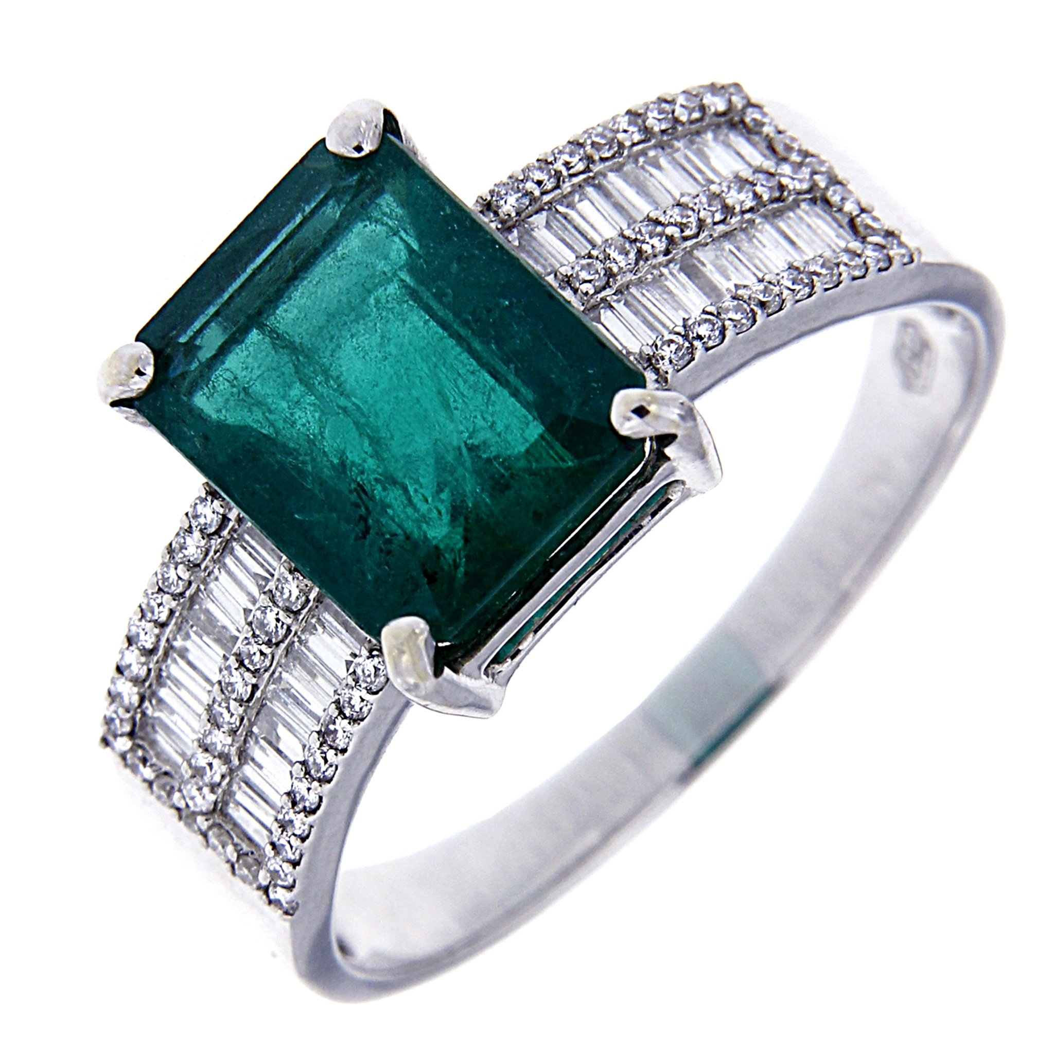 abbastanza Anello Argento Con Smeraldo: Anello con smeraldo ottagonale e  PJ67